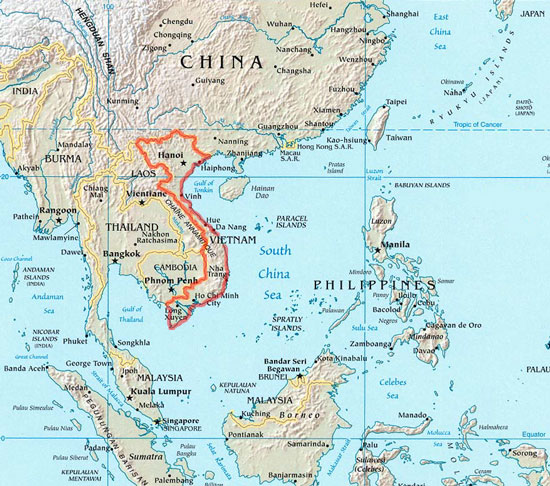Vietnam Map - Vietnam map